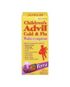 Children's Advil relieves fevers for up to 8 hours, so your kid can get back to being a kid. To be sure this product is right for your child, always read and follow the label. Includes 1 package containing Children's Advil Suspension (100 mL bottle, Fruit