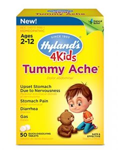 Hyland's 4 Kids Tummy Ache Tablets Natural Relief of Upset Stomach Diarrhea and Gas for Children 50 Count