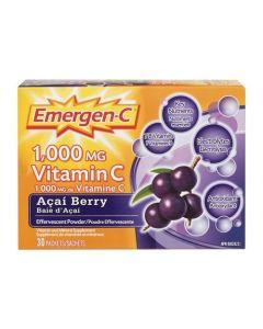 Emergen-C® Acai-Berry 1000mg Vitamin C / Electrolytes / B Vitamins Mineral Supplement| 30 packs