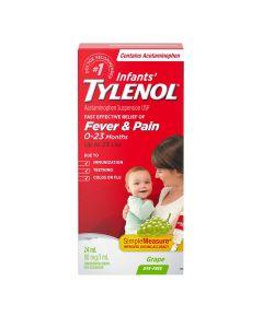 Tylenol Infants' Medicine, Fever & Pain Drops, Dye Free Grape 24 mL