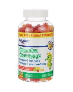 Equate Omega-3 for Kids Gummies, Value Size| 250 gummies