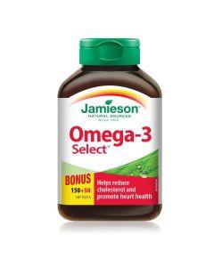 Jamieson Laboratories Jamieson Omega-3 Select Softgels, 1,000 mg| 150+50 softgels
