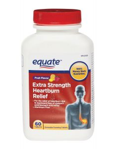Equate Fruit Flavour Extra Strength Heartburn Relief 60 Tablets