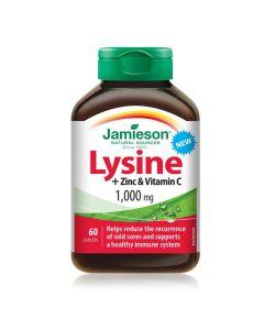 Jamieson Lysine + Zinc & Vitamin C 1000mg x 60 caplets