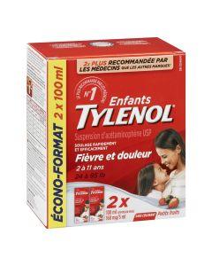 Tylenol Children's Medicine for Fever & Pain, Dye-Free Berry Liquid, Value Pack
