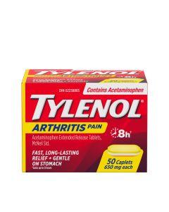 Tylenol Arthritis Pain Relief Acetaminophen 650mg x 50 Caplets