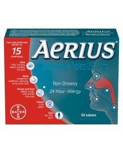 Aerius® 50 tablets| Fast Multi-Symptom Allergy relief