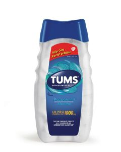 Tums Ultra Strength 1000mg Antacid for Heartburn Relief| 160 count Peppermint