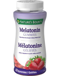 Nature's Bounty Melatonin Gummies| 60 Gummies
