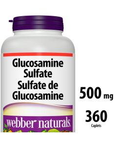 Webber Naturals® Glucosamine Sulfate 500 mg x 360 caplets
