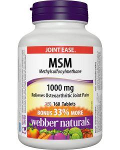 Webber Naturals® MSM Methylsulfonylmethane, 1000 mg| 160 tablets