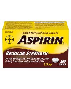 ASPIRIN® Regular Strength, 325mg | 200 Tablets