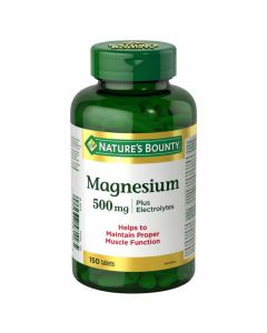 Nature's Bounty Magnesium plus Electrolytes 150 tablets