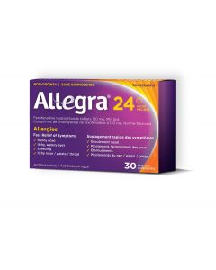 Allegra 24 Hour Allergy Relief Tablets x 30 Tablets