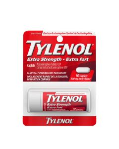 Tylenol Extra Strength 500mg 10 Caplets (vial)