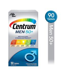 Centrum Men 50+ Multivitamin and Multimineral Supplement Tablets, 90 Count