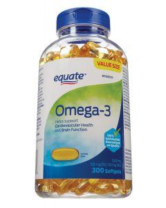 Equate Omega-3 1000mg Softgel 300ct