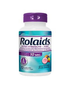 Rolaids Ultra Strength Fruit Flavoured Antacids 72 Tablets