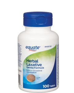 Equate Herbal Laxative Gentle Formula 100 Tablets