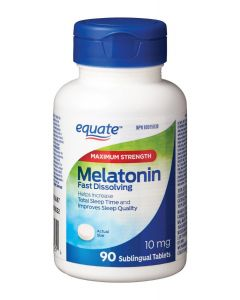 Equate Maximum Strength Melatonin 10 mg| 90 Sublingual Tablets