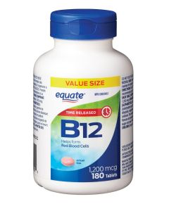Equate Vitamin B12 Time Release 1200 mcg x 180 Tablets