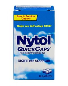 Nytol Nighttime Sleep Aid Quick Caps with Diphenhydramine HCl 25 mg | 16 Caplets