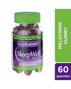 Vitafusion SleepWell Gummy Supplement 60 gummies, natural flavour
