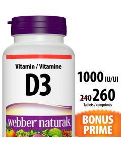 Webber Naturals® Vitamin D3 1000 IU Tablets x 260 Tablets