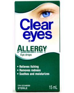 Clear Eyes Allergy Eye Drops 15 mL