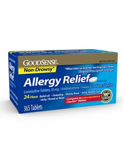 GoodSense Allergy Relief Loratadine Tablets 10 mg 365 Count Allergy Pills for Allergy Relief