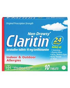 Claritin 24 Hour Allergy, Non-Drowsy, Tablets, 10 ct